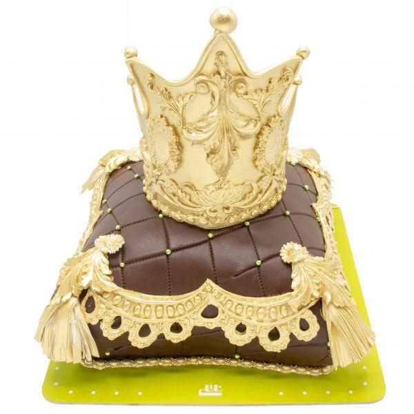 کیک تولد زرین تاج طلا