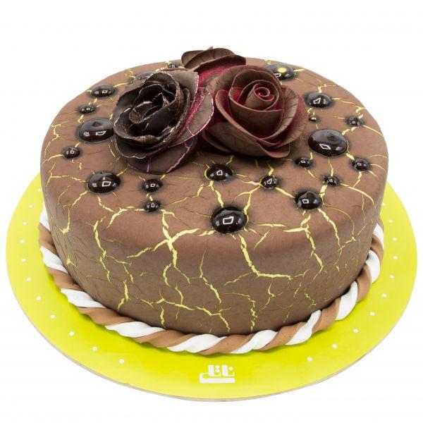 کیک تولد رز شکلاتی کبود