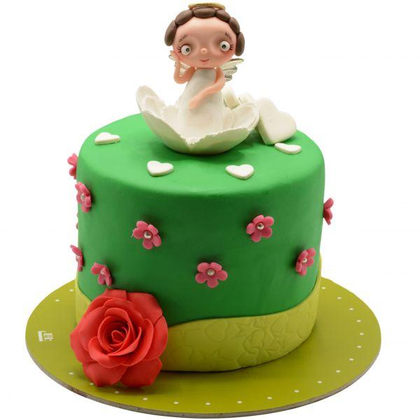 کیک تولد دخترانه فرشته کوچک