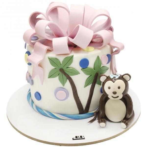کیک تولد میمون کوچولو