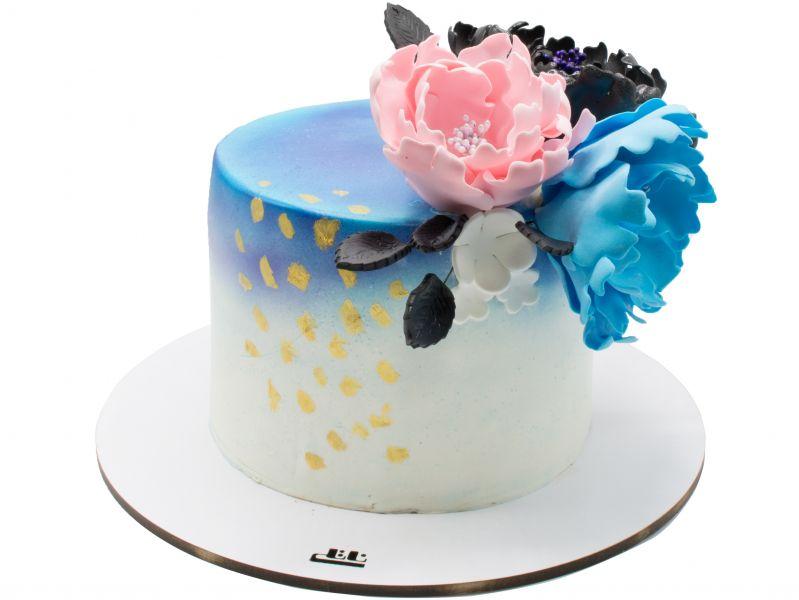 کیک تولد دخترانه گل ابر و باد