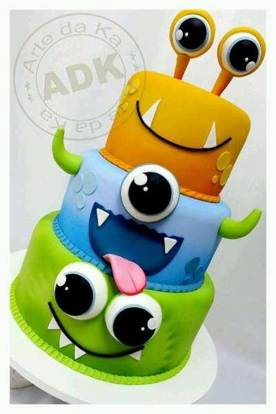 کیک تولد پسرانه هیولاها 5
