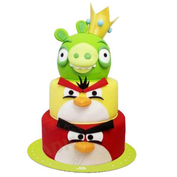 کیک تولد پرندگان خشمگین