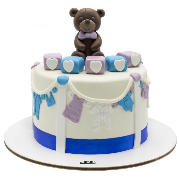 کیک تولد خرس قهوه ای