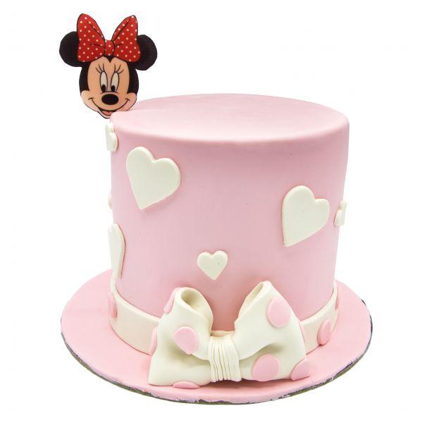 کیک میکی موس صورتی