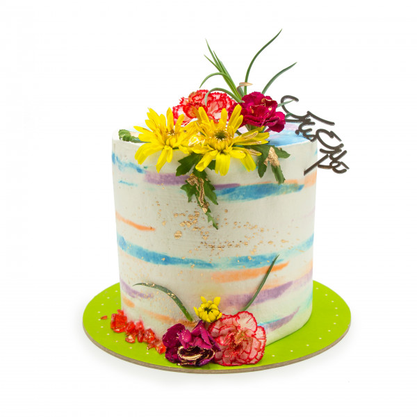 کیک خامه و گل