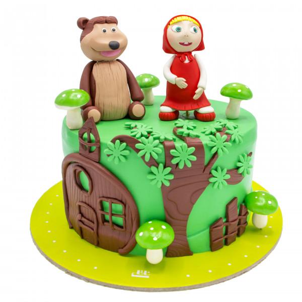 کیک تولد ماشا و میشا