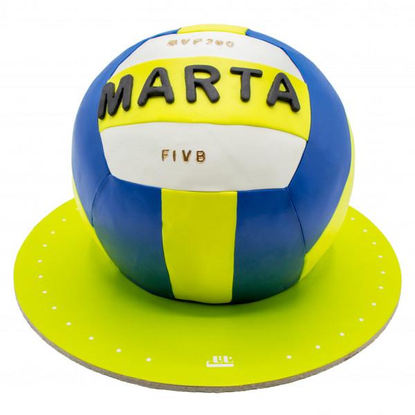 کیک توپ والیبال