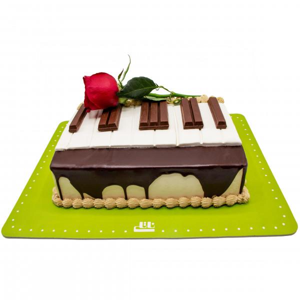 کیک پیانو کوچک