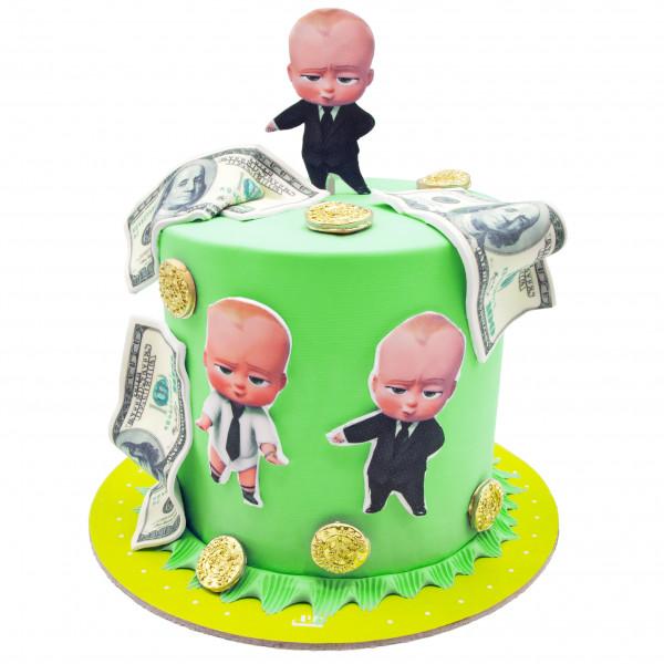 کیک طرح بچه رئیس