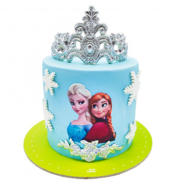 کیک السا و آنا تاج دار