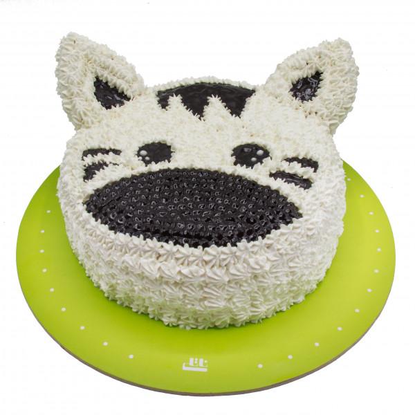 کیک گربه سفید