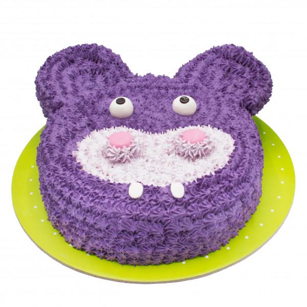 کیک خرس خامه ای بنفش