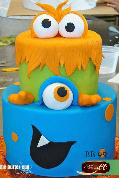 کیک تولد پسرانه هیولاها 3