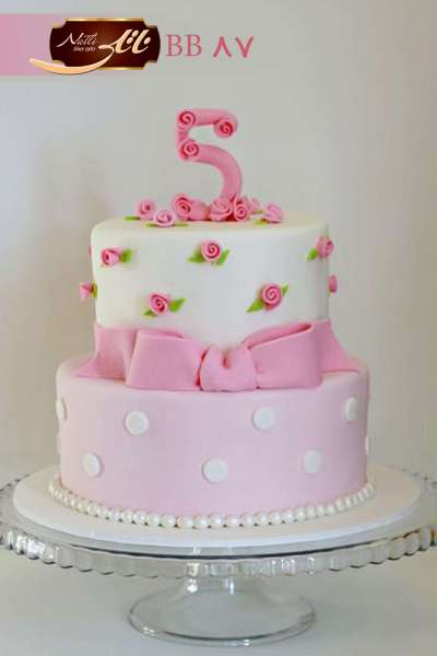 کیک تولد دخترانه پاپیون 4
