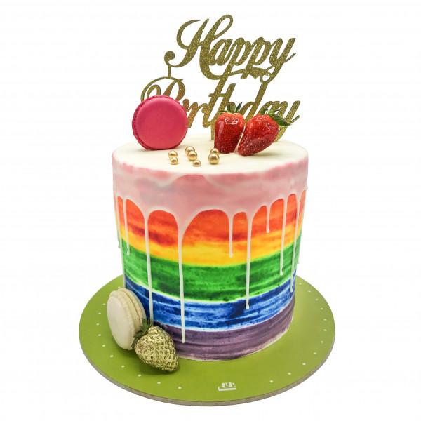 کیک تولد دخترانه خال خالی