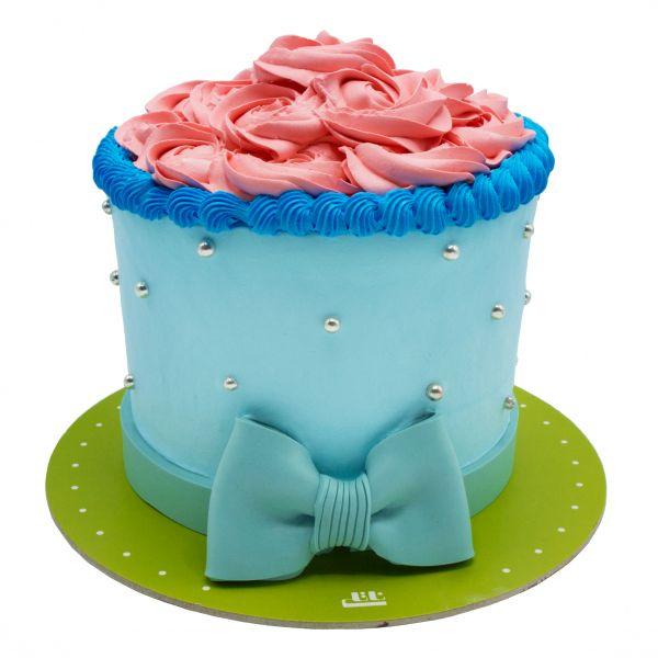 کیک تولد دخترانه رز صورتی