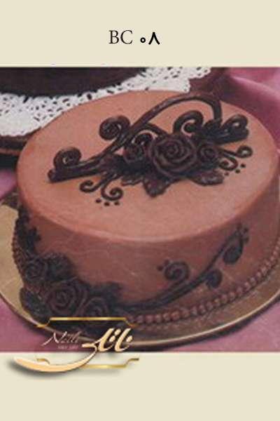 کیک تولد رز شکلاتی
