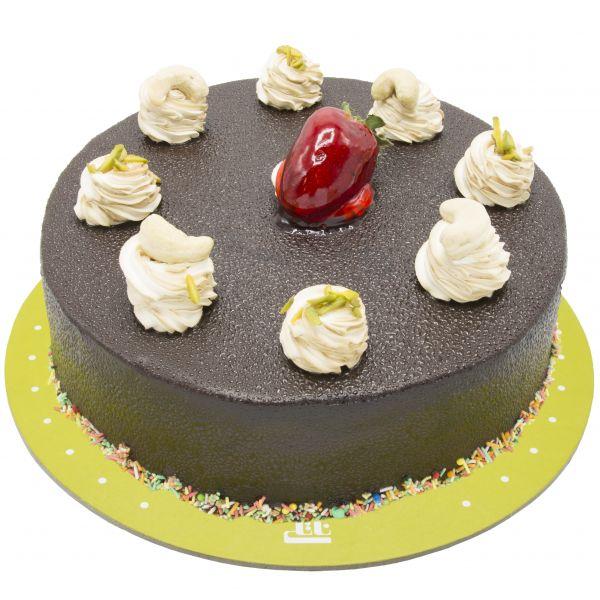 کیک خامه ای شکلاتی دلسا ساده