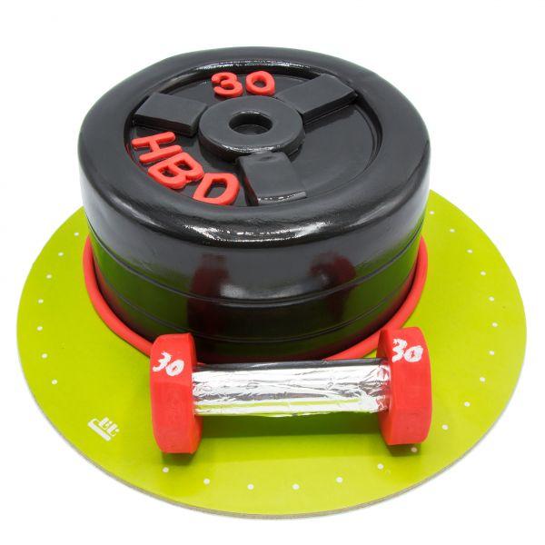 کیک وزنه ی بدنسازی