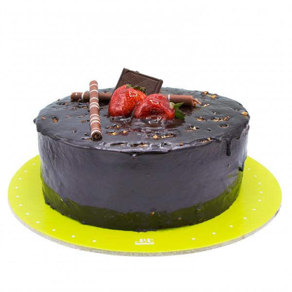کیک شکلات تلخ با پرک بادام