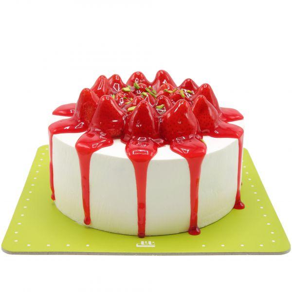 کیک وانیلی چکه ای