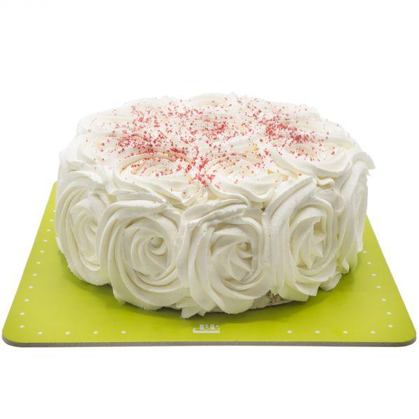 کیک رز وانیل