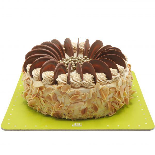 کیک ساده نسکافه بادام زمینی