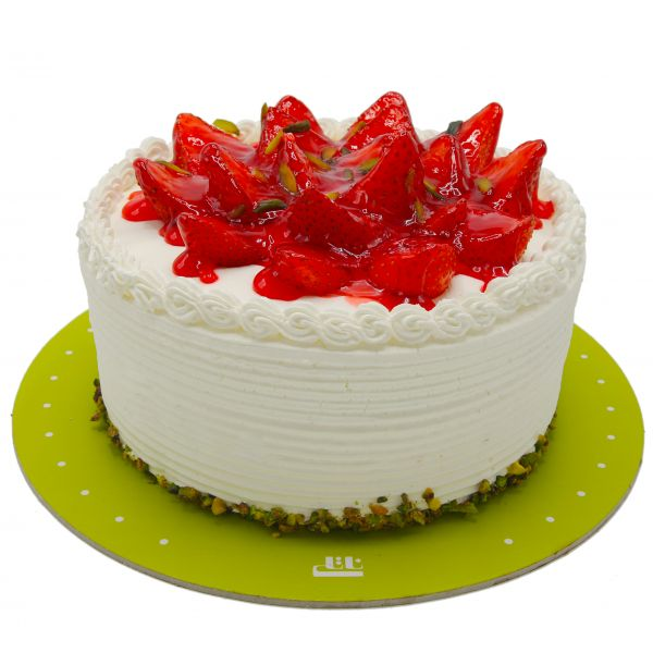 کیک خامه ای اسلایس توت فرنگی