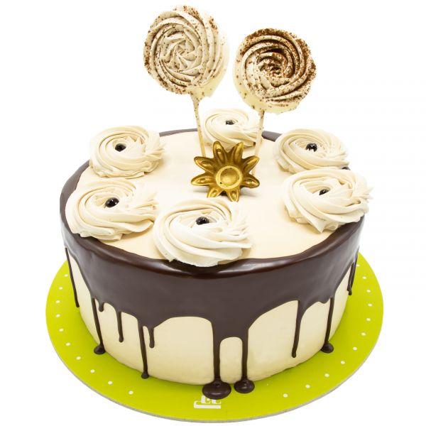 کیک گل خامه ای 2