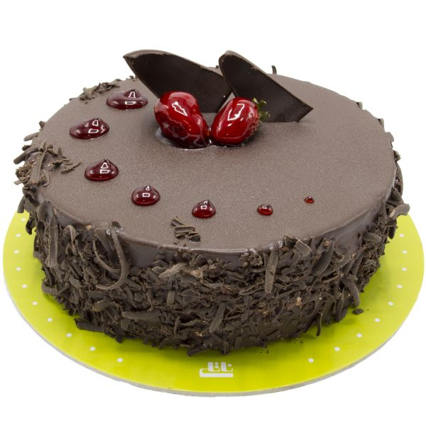 کیک شکلاتی توت فرنگی آشفته