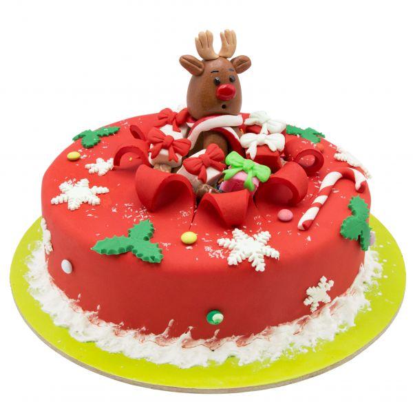 کیک گوزن کریسمس