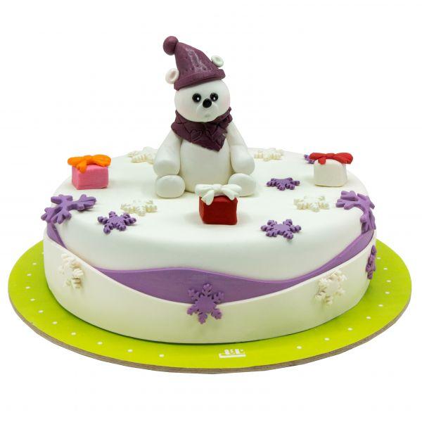 کیک خرس سفید