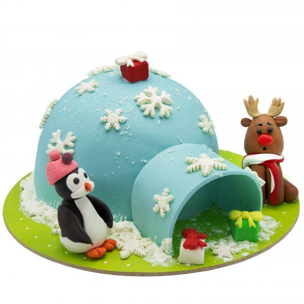کیک خونه برفی