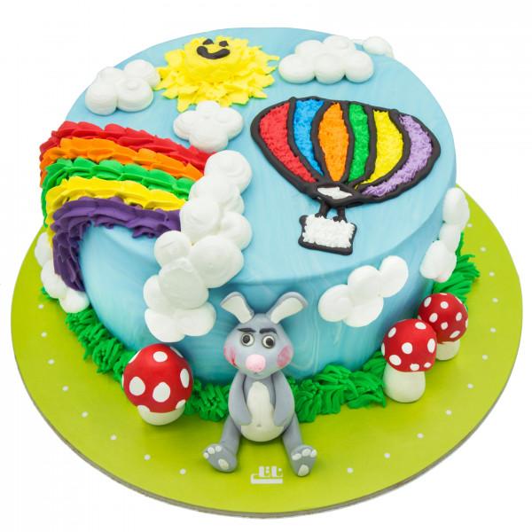 کیک خرگوش و بالن