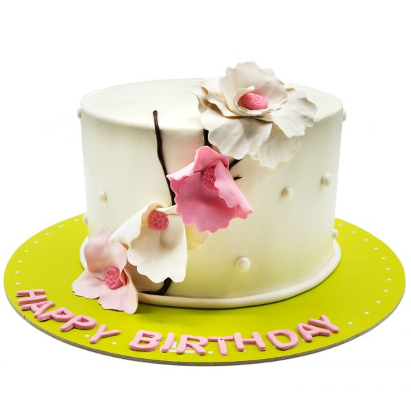 کیک نقش گل