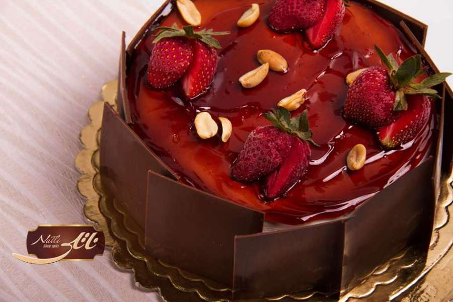 کیک بستنی توت فرنگی 2