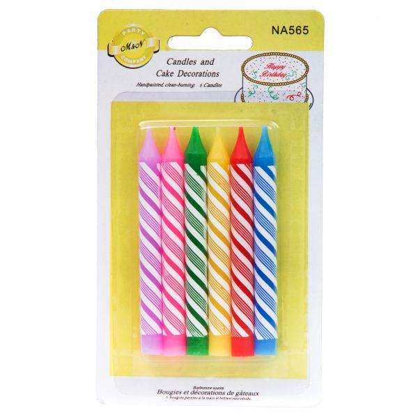 شمع جشن تولد قلمی رنگارنگ