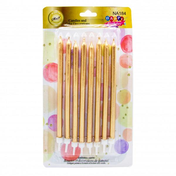 شمع مدادی طلایی متالیک
