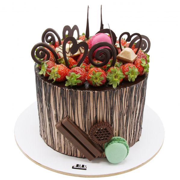 کیک شکلات و توت فرنگی