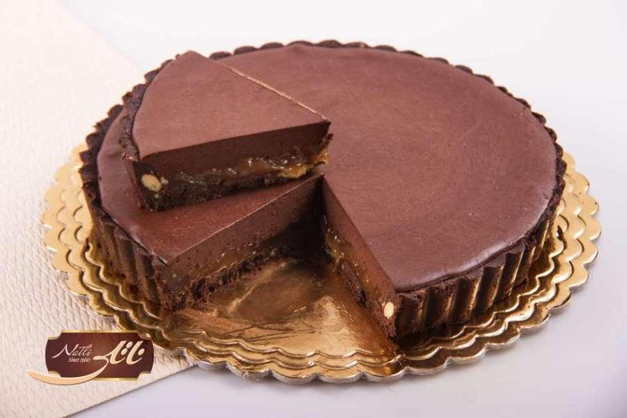دسر تارت شکلات کارامل