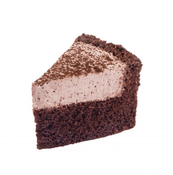 شیرینی چیز کیک سه گوش شکلاتی