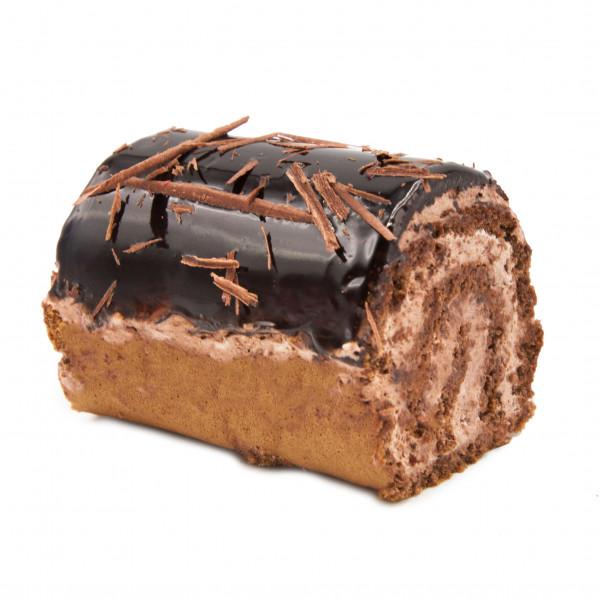 رولت شکلاتی با تزئین رنده شکلات