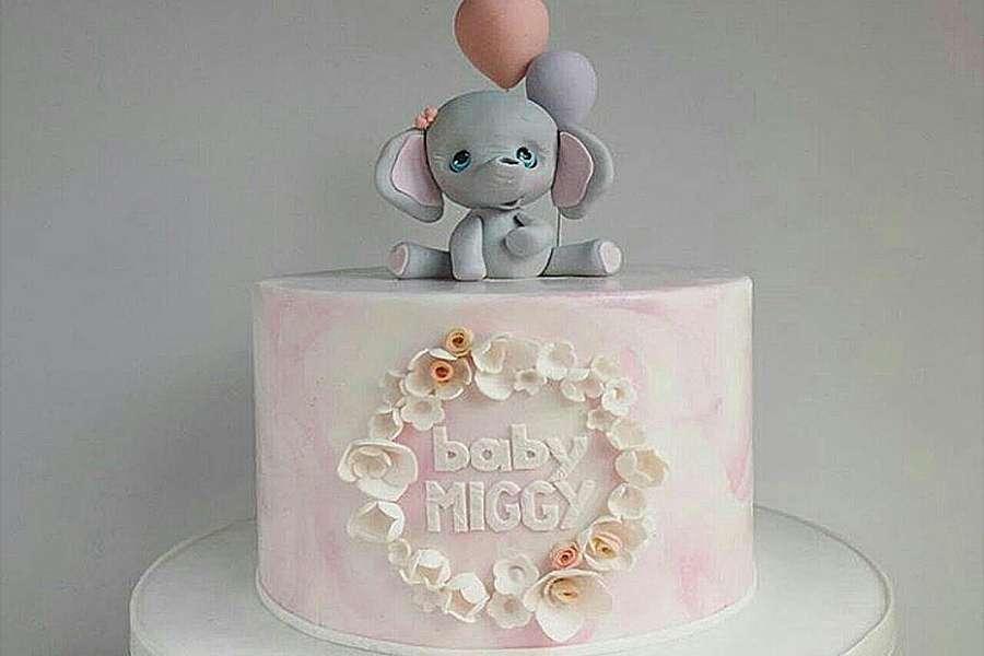 کیک تولد دخترانه فیل کوچولو