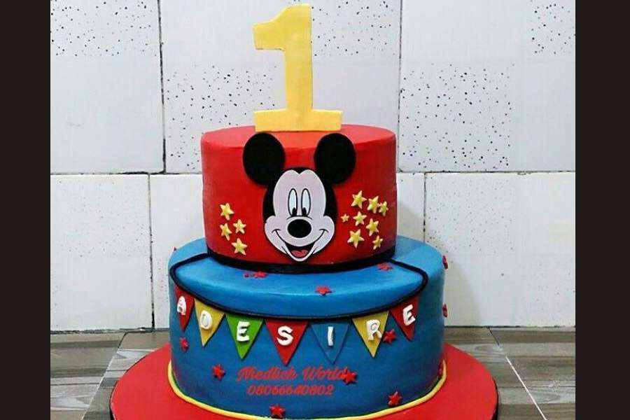 کیک تولد پسرانه میکی موس 8