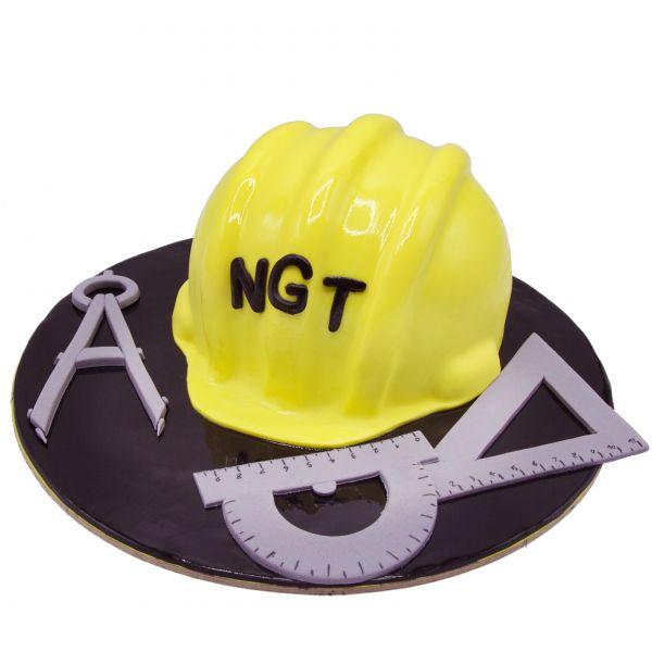 کیک کلاه مهندسی