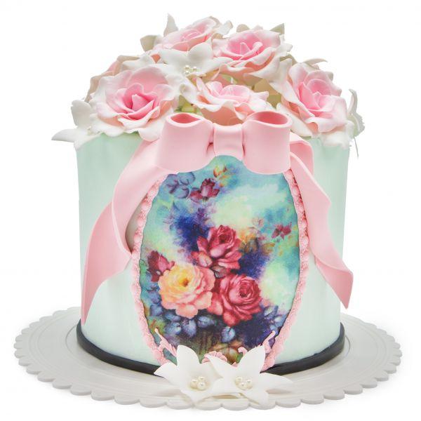 کیک گل رز