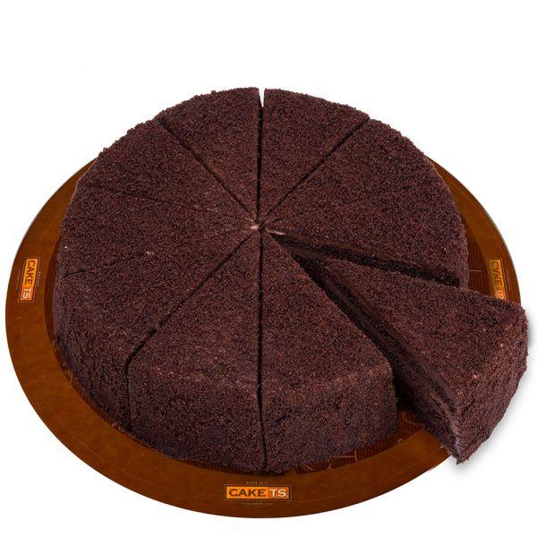 کیک پودری شکلاتی کافی شاپی