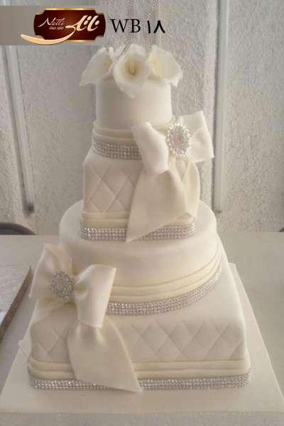 کیک عروسی پاپیون سفید