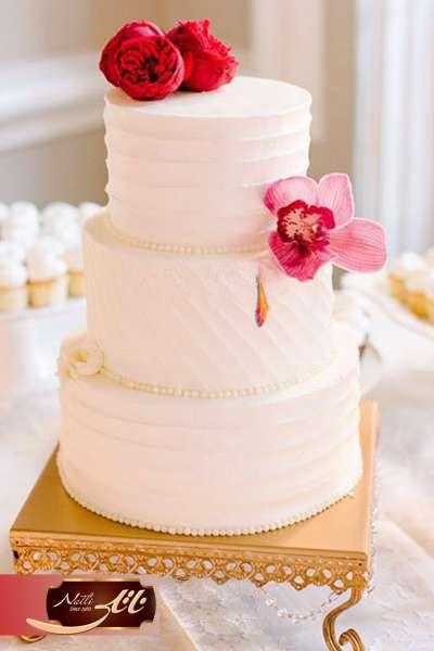 کیک عروسی شقایق